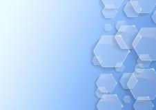 Fond géométrique avec des hexagones transparents illustration de vecteur