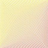 Fond géométrique avec les lignes continues onduleuses colorées Vecteur illustration libre de droits