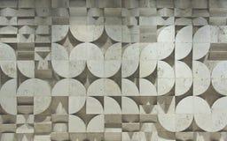 Fond géométrique blanc abstrait avec la texture sans couture avec l'ombre photos libres de droits