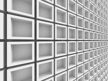 Fond géométrique blanc abstrait de modèle Photographie stock