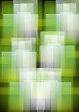 Fond géométrique blanc vert abstrait de configurations Photographie stock