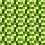 Fond géométrique blanc vert carré de vecteur Images libres de droits