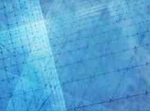 Fond géométrique bleu Photo libre de droits