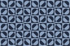 Fond géométrique bleu Photo stock