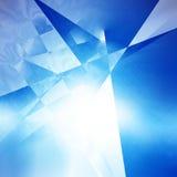 Fond géométrique bleu Photographie stock