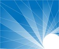 Fond géométrique bleu avec des tuiles Photo stock