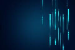 Fond géométrique bleu de technologie d'abrégé sur forme Images libres de droits