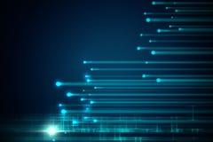 Fond géométrique bleu de technologie d'abrégé sur forme Photo libre de droits
