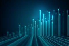 Fond géométrique bleu de technologie d'abrégé sur forme Image libre de droits