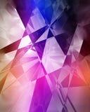 Fond géométrique bleu et pourpre Photographie stock