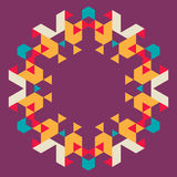 Fond géométrique circulaire Photos libres de droits