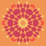 Fond géométrique circulaire Images stock