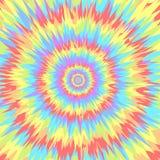 Fond géométrique circulaire abstrait Colorez le modèle central géométrique circulaire de mouvement Illustration de vecteur illustration stock