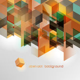 Fond géométrique coloré abstrait Photo libre de droits