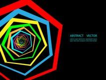 Fond géométrique coloré abstrait Calibre moderne pour la présentation d'affaires ou de technologie illustration stock