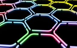 Fond géométrique coloré abstrait de Digital Photographie stock libre de droits