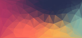 Fond géométrique coloré avec des triangles et espace de copie pour le texte fait sur commande Fond abstrait de triangles pour le  illustration de vecteur