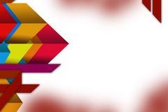 fond géométrique coloré d'abrégé sur chevauchement de la forme 3d Photos stock