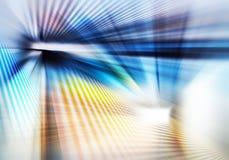 Fond géométrique coloré de résumé avec les rayons droits de la lumière bleue et jaune s'étendant dans beaucoup de directions images libres de droits