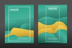 Fond géométrique coloré Le fluide forme la composition illustration stock