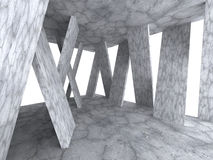 Fond géométrique concret de conception moderne d'architecture Photographie stock libre de droits