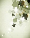 Fond géométrique d'éléments de polygone de conception de tract abstrait de brochure Images stock
