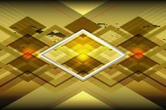 Fond géométrique d'or Images stock