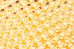 Fond géométrique d'or Image libre de droits