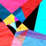 Fond géométrique d'abrégé sur couleur d'aquarelle illustration stock