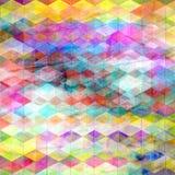 Fond géométrique d'abrégé sur couleur d'aquarelle Photo stock