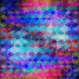 Fond géométrique d'abrégé sur couleur d'aquarelle Photo libre de droits