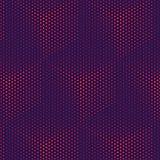 Fond géométrique d'abrégé sur modèle de cube Fond pourpre magenta de gradient, cubes légers Technologie futuriste 3D illustration de vecteur