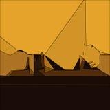 Fond géométrique d'or abstrait Image stock