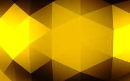 Fond géométrique d'or abstrait Texture d'or avec l'ombre 3d rendent Photographie stock libre de droits