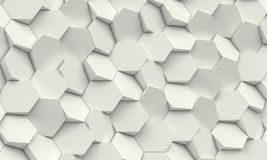 Fond géométrique d'hexagone Photographie stock