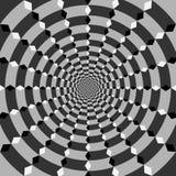Fond géométrique d'illusions Images stock