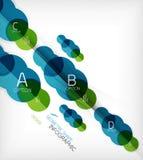 Fond géométrique d'infos de forme de cercle brillant Photo libre de droits