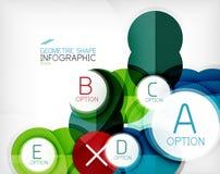 Fond géométrique d'infos de forme de cercle brillant Photographie stock