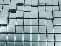 fond géométrique de bleu en métal d'abrégé sur l'illustrtion 3d illustration libre de droits