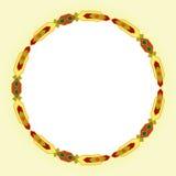 Fond géométrique de calibre d'ornement de vecteur d'affaires d'éléments de cadre indien tribal indigène abstrait de conception Photographie stock