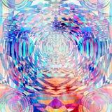 Fond géométrique de cercles d'aquarelle abstraite Photo libre de droits