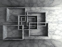 Fond géométrique de conception de mur en béton d'architecture Images stock