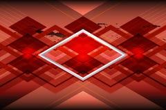 Fond géométrique de cuivre Photo libre de droits