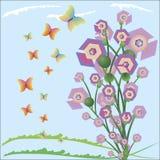 Fond géométrique de fleur d'été abstrait Photos stock