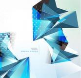 Fond géométrique de forme de triangle de vecteur Images libres de droits