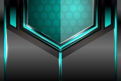 Fond géométrique de lumière de technologie Photographie stock