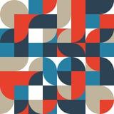 Fond géométrique de modèle de forme de rétro vintage abstrait illustration libre de droits