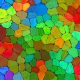 Fond géométrique de modèle de pallette d'arc-en-ciel de peinture mozaic colorée abstraite de tuiles sur le mur 5 Image libre de droits