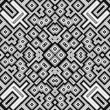 Fond géométrique de modèle noir et blanc Images stock
