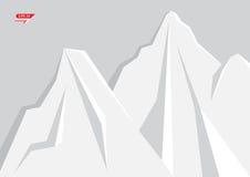 Fond géométrique de montagne Photos libres de droits